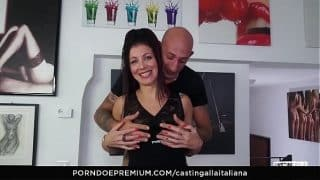 CASTING ALLA ITALIANA – Ass fuck and gape with playful european mature